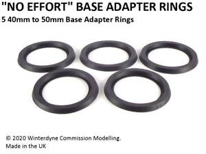 """No Effort"" 40mm to 50mm Base Adapter Rings Warhammer Age of Sigmar 40k"
