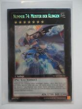 NUMMER 74: MEISTER DER KLINGEN NUMH-DE032 SECRET RARE 1.AUFLAGE  /