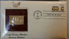 Early Electric Streetcar American Streetcars First Day Issue Gold Stamp in prote