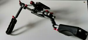 Zacuto Kamera Base 15mm rod Support Set + Grip + Shoulderpad DSLR for Canon 5D