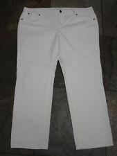 "618  TALBOTS Size 20WP x 29""  White Signature Straight leg Stretch Denim EUC"
