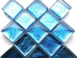 Aqua Blue Silverfoil Glass Tiles 1 cm - Mosaic Tiles Supplies Art Craft