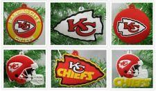 The Kansas City Chiefs 6 Piece Christmas Tree Ornaments Set    *** BRAND NEW ***