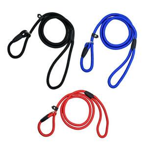 Dog Puppy Training Slip Rope Dog Lead 1cm Strong Nylon Training Walking Leash