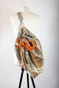P456/L02 Sweaty Betty Golden Beige Duffle Cross Shoulder Tote Bag