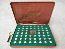 Franklin Mint Pro Football Immortals Sterling Silver Coin Set In Case wMagnifier