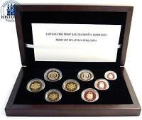 Lettland 1 Cent bis 2 Euro 2014 KMS Kursmünzen im Etui