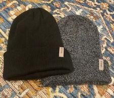 Bula Beanie Merino Wool Blend Grey Black Winter Hat EUC!