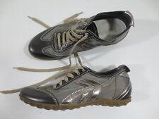 """Schnür Sneaker GEOX Leder-Imitat 36 """"metallic braun bronze"""" wie NEU  /52"""