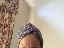 KNITTED TURBAN STYLE HAT
