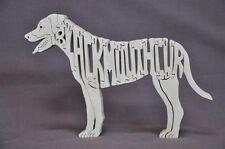 Black Mouth Cur Herding Dog Wood Amish Dog Toy Puzzle Figurine