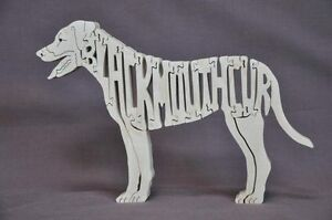 Black Mouth Cur  Herding Dog  Wood Amish Dog Toy Puzzle Figurine
