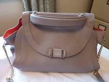 SEE BY CHLOE PALE GREY LEATHER MEDIUM CROSS BODY/GRAB BAG