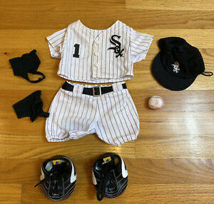 Build A Bear White Sox Baseball Full Outfit Chicago MLB sports Cleats Shoes Hat