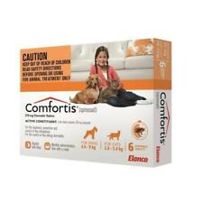 Comfortis Orange for Dogs & Cats 6 Pk Monthly chewable for fleas