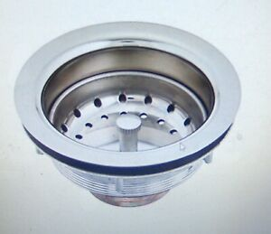"Blanco Chrome 3-1/2"" Kitchen Bar Basin Sink Pull Strainer Basket drain 440029"
