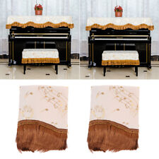 Piano Half Cover Cloth+Piano Stool Chair Bench Cover for Upright Piano Parts