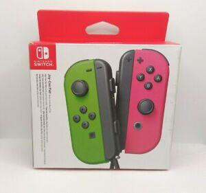Coppia Joy-Con Nintendo Switch VERDE e ROSA neon SOLO TESTATI COME NUOVI