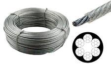 100m Drahtseil 4mm / 6mm - PVC ummantelt klar 6x7 Stahlseil Seil Draht verzinkt