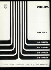Rare Original Factory Philips PH 100 AM FM Stereo Tuner Receiver Owner's Manual