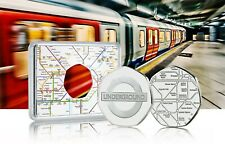 More details for london underground official silver commemorative in case. subway/tube/train/tfl
