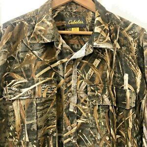 Cabela's Realtree Max 5 Camo Long Sleeve Large Cotton Blend Heavy Mens Shirt