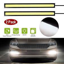 2X COB LED Waterproof Daytime Running Lights Car Fog Driving DRL Lamp White 12V