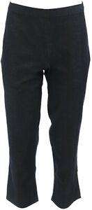 H Halston Studio Stretch Pull-On Crop Pants Dark Indigo 4 NEW A286264