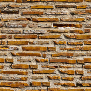 2 SHEETS BRICK stone wall 20x28cm 1/24 Scale PAPER EMBOSSED +SELF ADHESIVE  #B14