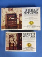 NOS X-Acto House of Miniatures Chippendale Desk & Side Chair Set