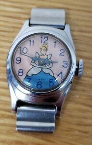 Vintage Collectable Wind Up Disney Cinderella Watch Not Running