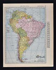 1911 McNally Index Map - South America - Brazil Argentina Chile Peru Amazon Rio