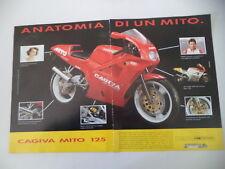 advertising Pubblicità 1991 MOTO CAGIVA MITO 125 SEVEN SPEED e  EDDIE LAWSON