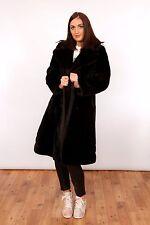 Beautiful vintage faux fur swing trench coat