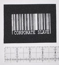 Corporate Slave Patch Punk Anarchy Crass Class War Human Rights Liberation ALF