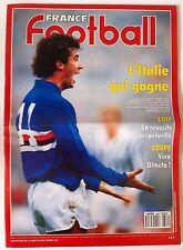 France Football du 8/5/1990; Sampdoria de Gênes-Anderlecht/ Juventus/ Milan AC