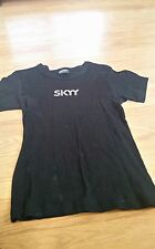Black studded small Skyy vodka t shirt