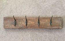 Handmade Reclaimed Wood, Distressed Wall Coat Hanger 4 Peg Hook- Hall Bedroom