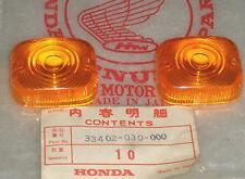 1963-1966 Honda 90 C200 CA200 CD90 Front Turn Signal Winker Lens Set 2 OEM NOS