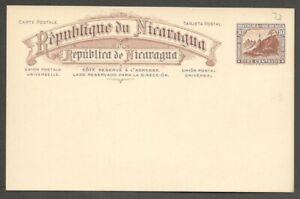 AOP Nicaragua 1911 10c brown postal card unused HG #73