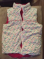 Girls Gorgeous Gap Reversible Pink And Floral Gilet/Bodywarmer Age 12-13 Years