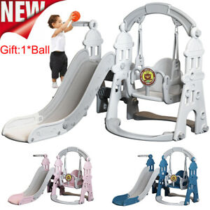 4 In 1 Toddler Climber Slide Swing Play Set Indoor Outdoor Kids Playground Toy