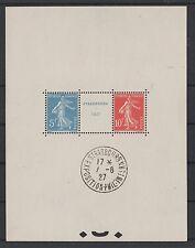 "FRANCE BLOC FEUILLET 2 a "" STRASBOURG 1927 "" NEUF xx AVEC CACHET EXPOSITION P003"