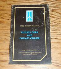 Original 1986 Oldsmobile Cutlass Ciera & Cruiser Owners Operators Manual 86