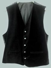 Unbranded Cotton Patternless Formal Waistcoats for Men