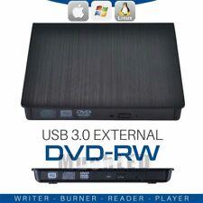 External USB 3.0 DVD RW CD Writer Slim Drive Burner Reader Player For Laptop MAC