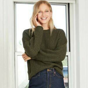 Women's Crewneck Pullover Sweater - Universal Thread Olive Heather L, Green Grey