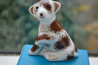 """Royal Crown Derby Paperweight """"BAILEY""""  New Sitting Puppy 1st Quality & Orig Box"""