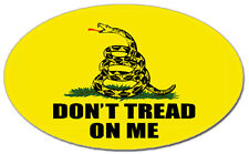 Don't Tread On Me - Gadsden Oval Flag Yellow Car Decal / Sticker