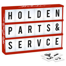 HOLDEN Light Up Box Sign with 85 Letters & Holden Symbols Man Cave Bar Gift